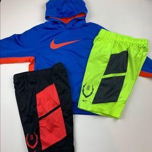 Nike Medium Boys Dri Fit Hoodie Shorts Lot Of 3